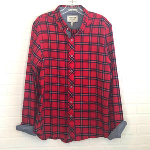 Heritage Shirt Collection Slim Fit Flannel XL Red